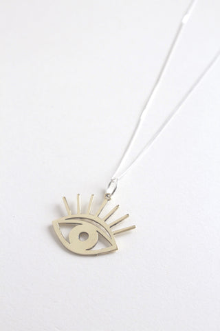 Necklace Watchful Vigil Brass