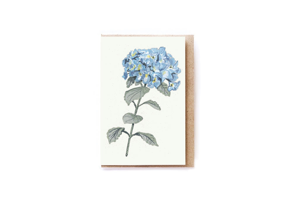 Card Mini Blue Hydrangea