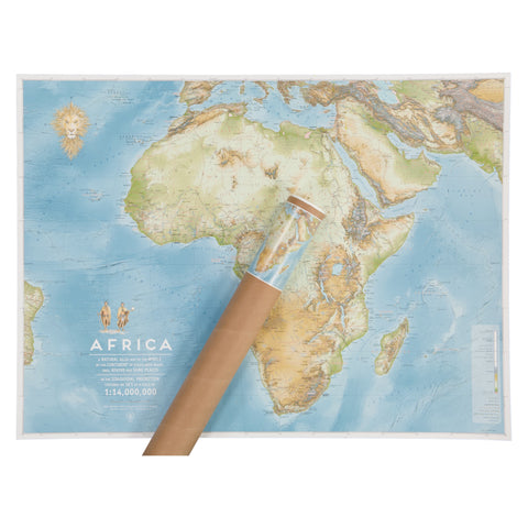 Poster Map Africa