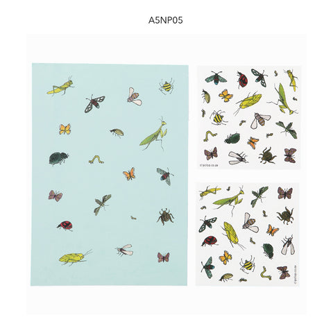 Notepads A5 With Stickers Insects