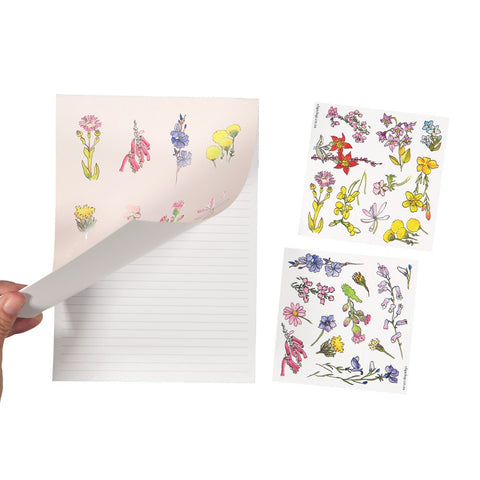 Notepads A5 With Stickers Flowers