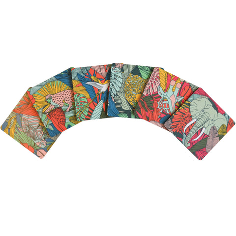 Coasters Wild at Heart Set Of 6