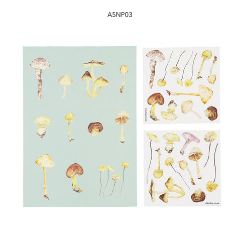 Notepads A5 With Stickers Mushrooms