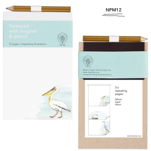 Notepad Magnetic with Pencil Pelican