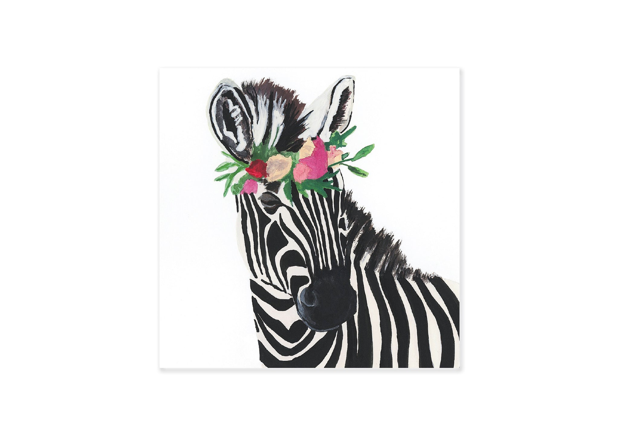 Card Square Zebra