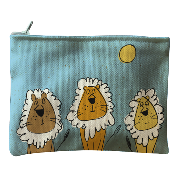 Bag Zip Grouchy Lions Blue