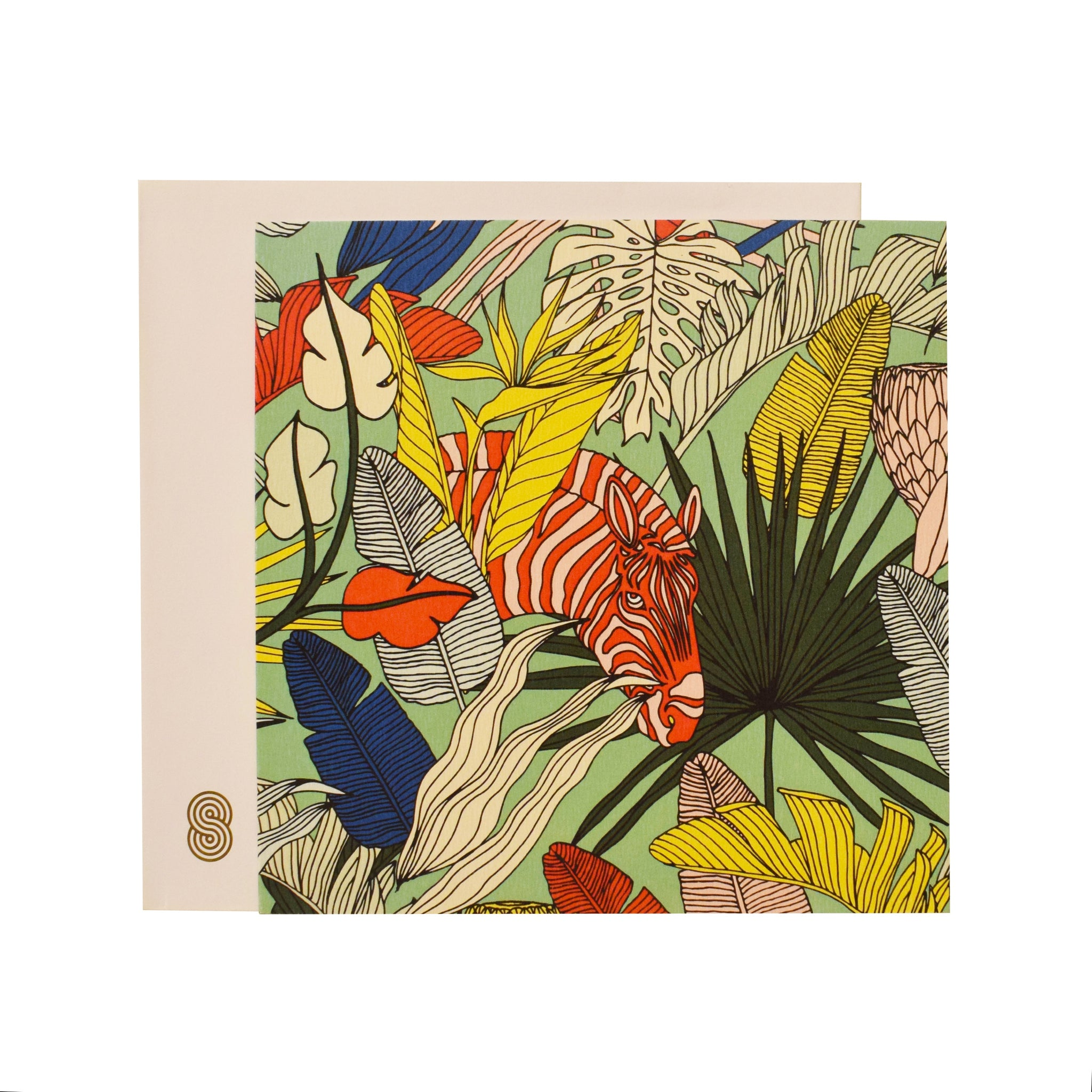 Square Notecard Wild at Heart Green