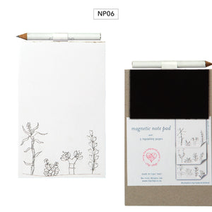Notepad Magnetic with Pencil Succlents