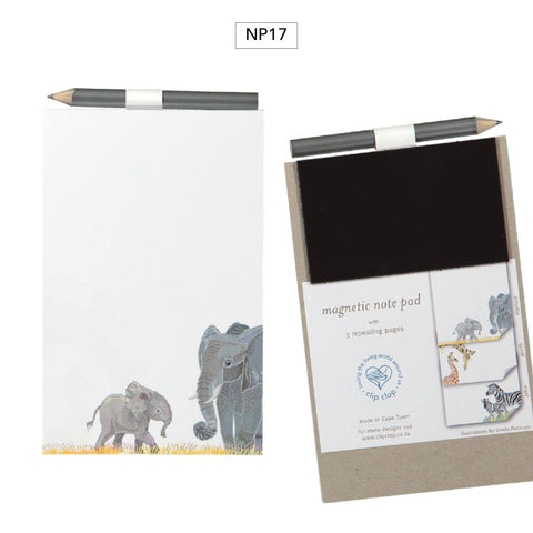 Notepad Magnetic with Pencil Elephant