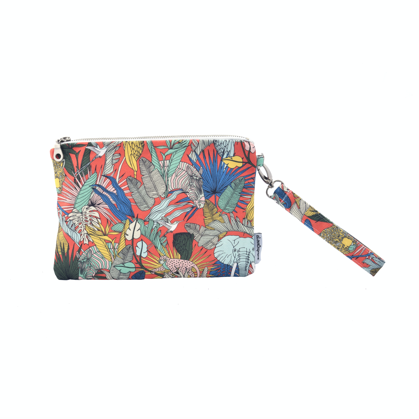 Pouch With Strap Wild at Heart Orange