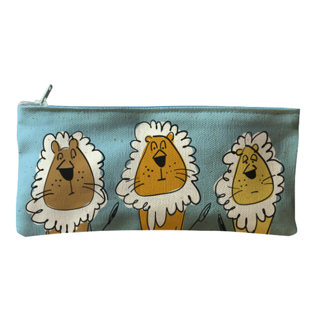 Bag Pencil Grouchy Lions Blue