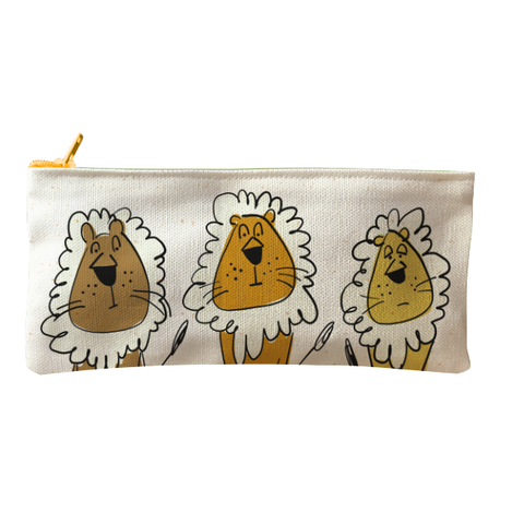 Bag Pencil Grouchy Lions Natural