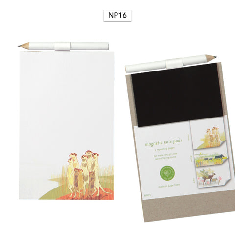 Notepad Magnetic with Pencil Meerkat