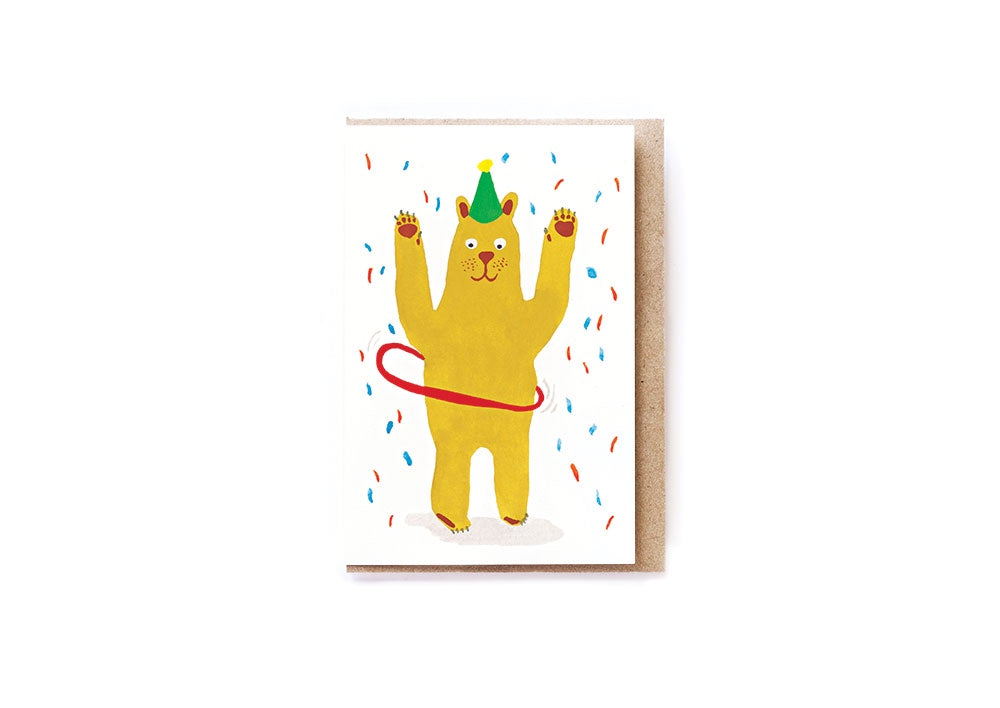 Card Mini Bear Hoop