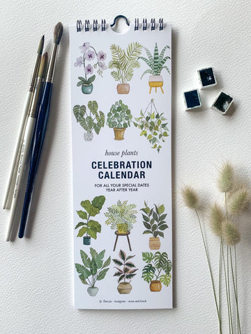 Calender House Plant Celebration Pot