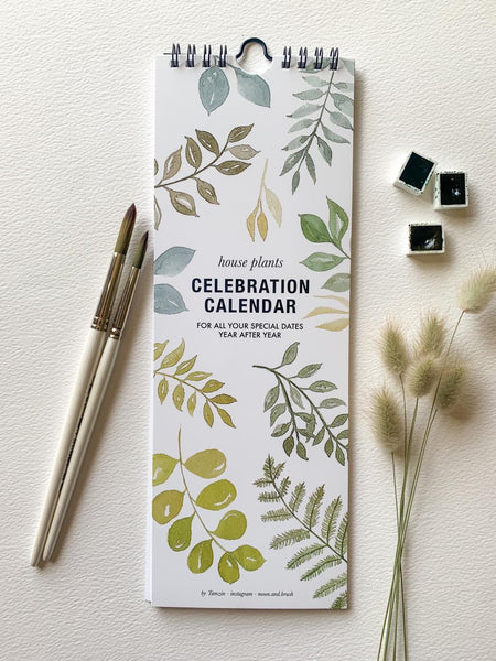 Calender House Plant Celebration Leaf