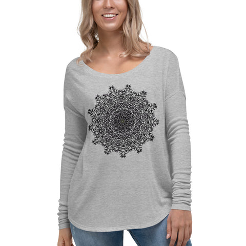 Autumn Mandala Ladies' Long Sleeve Tee