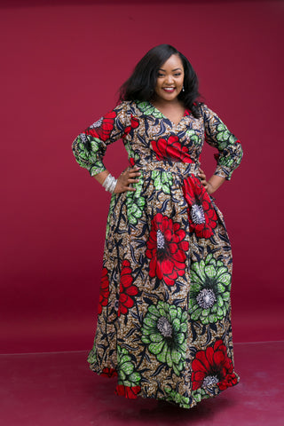Cute African Print Maxi dress styles are trending - Here\'s why
