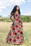 Aden Wide Neck Maxi African Dress