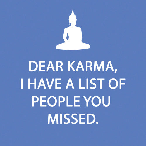 """Dear Karma..."" Cocktail Napkin"