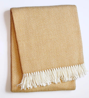Plush Herringbone Throw