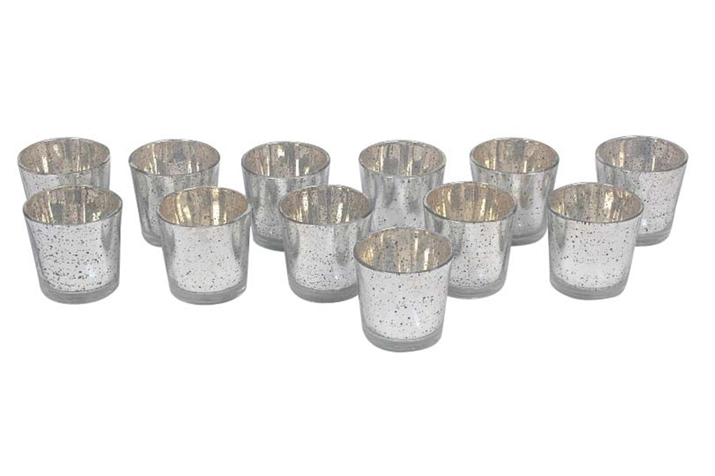 Silver Glass Votives
