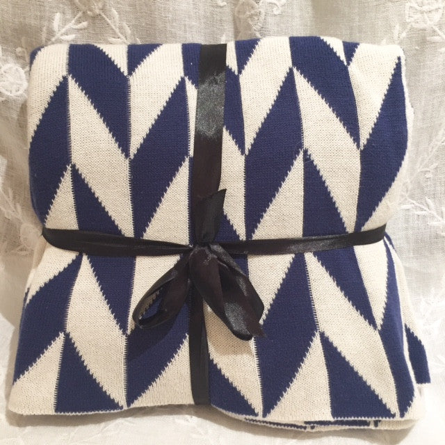Indigo Geometric Throws