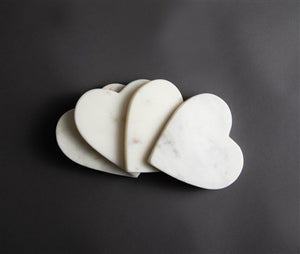 Heart-shaped Marble Coasters