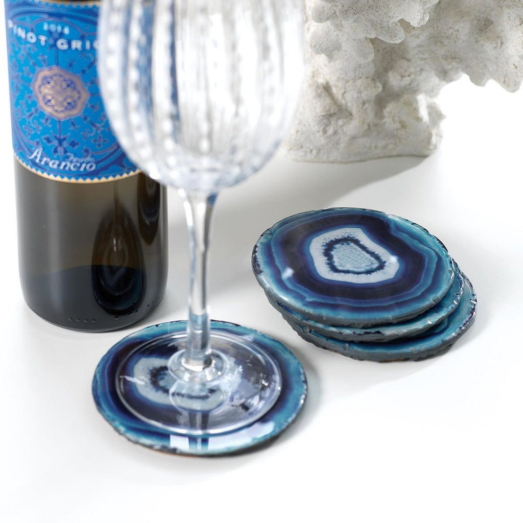 Azul Faux Agate Coasters Set of 4