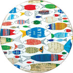 Fish Parade Coasters - Set/4