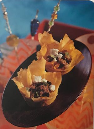 Filo Cups with Spiced Lamb, Mint, and Feta Recipe Card