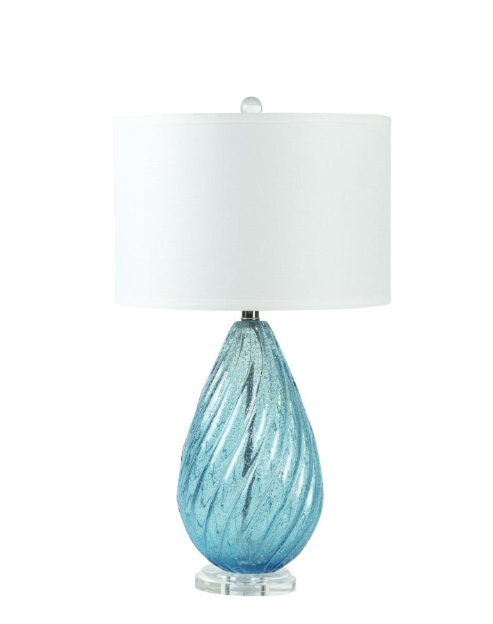 Blue Teardrop Lamp