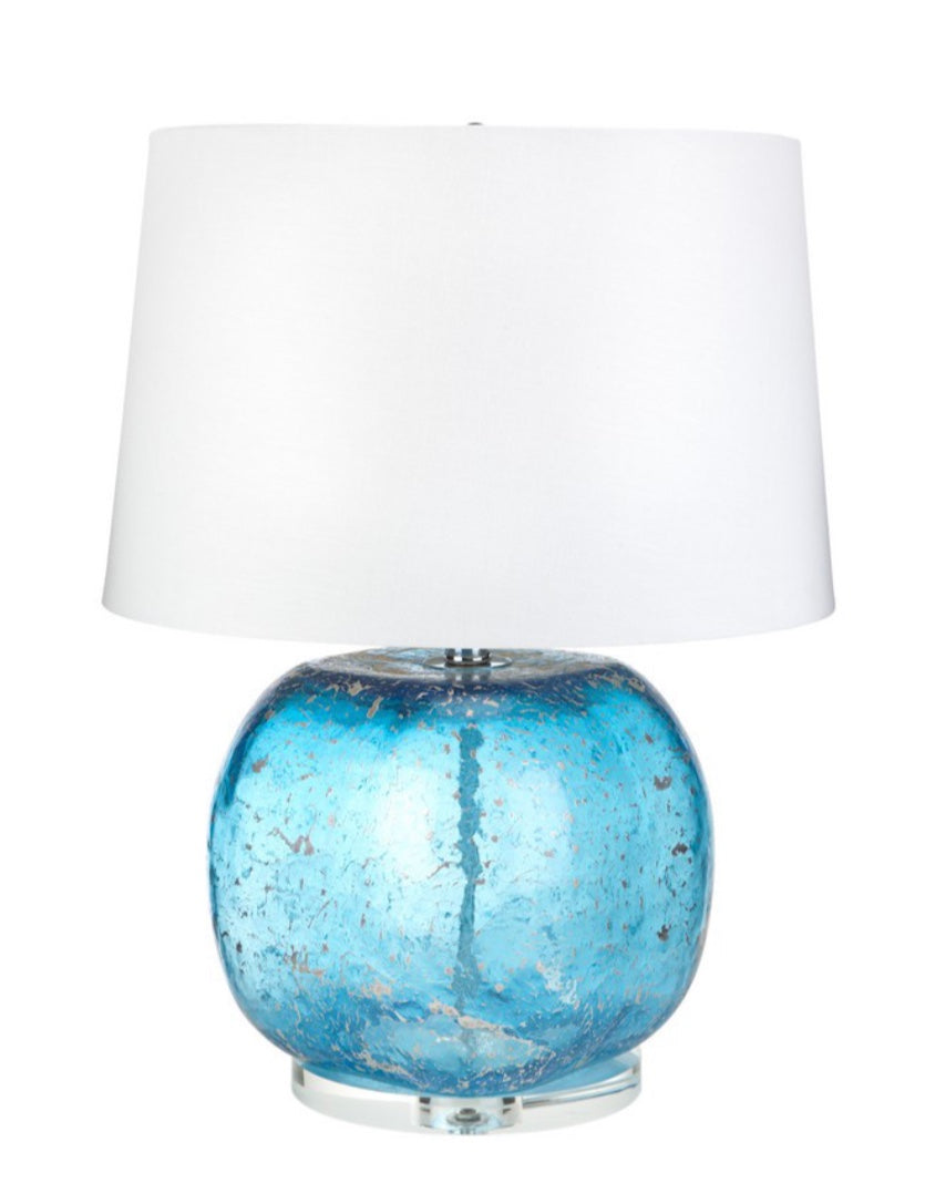 Turquoise Lamp w/ Silver Accents