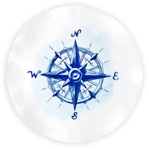 Nautical Compass Melamine Platter