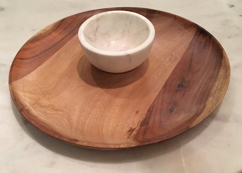 Wood/Marble Serving Plate
