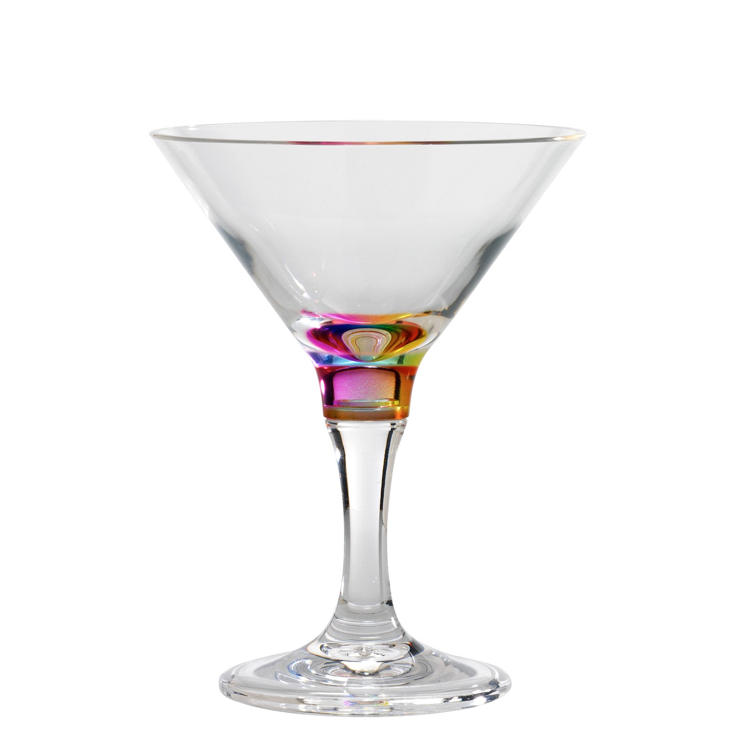 Rainbow Martini/Dessert Glass