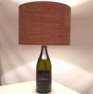 Custom Wine Bottle Lamp with Cork Shade