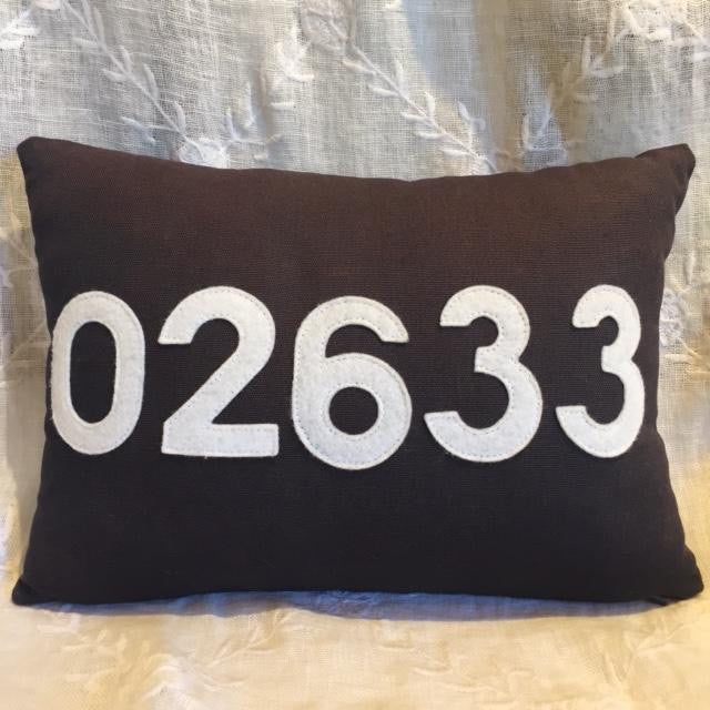 Zip Code Pillow