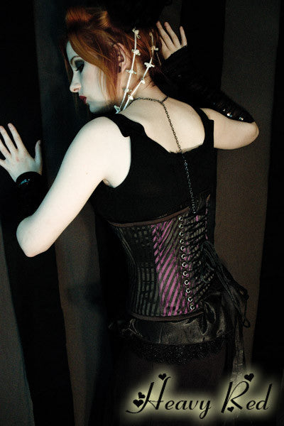Violet's Last Breath Steel Boned Waist Cincher