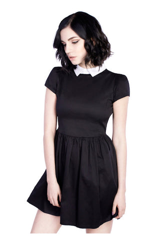 Suspense Harness Dress with black vegan leather trim
