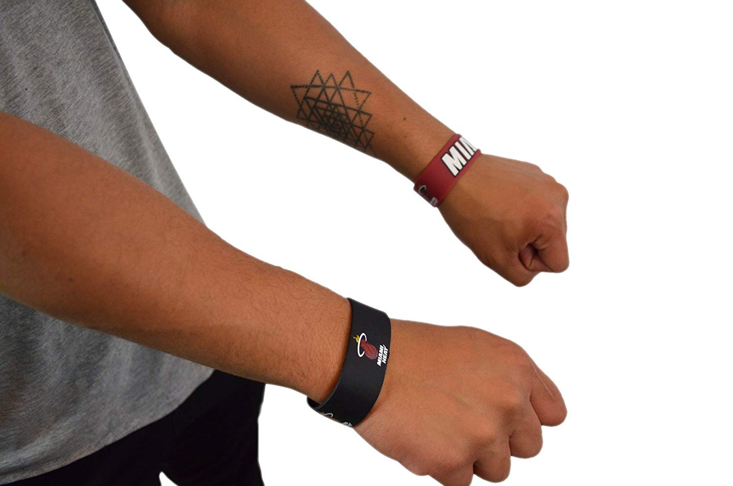 timeless design 2086f 56829 Official National Basketball Association Fan Shop Authentic NBA 4-pack  Silicone Rubber Wristbands (Miami Heat)