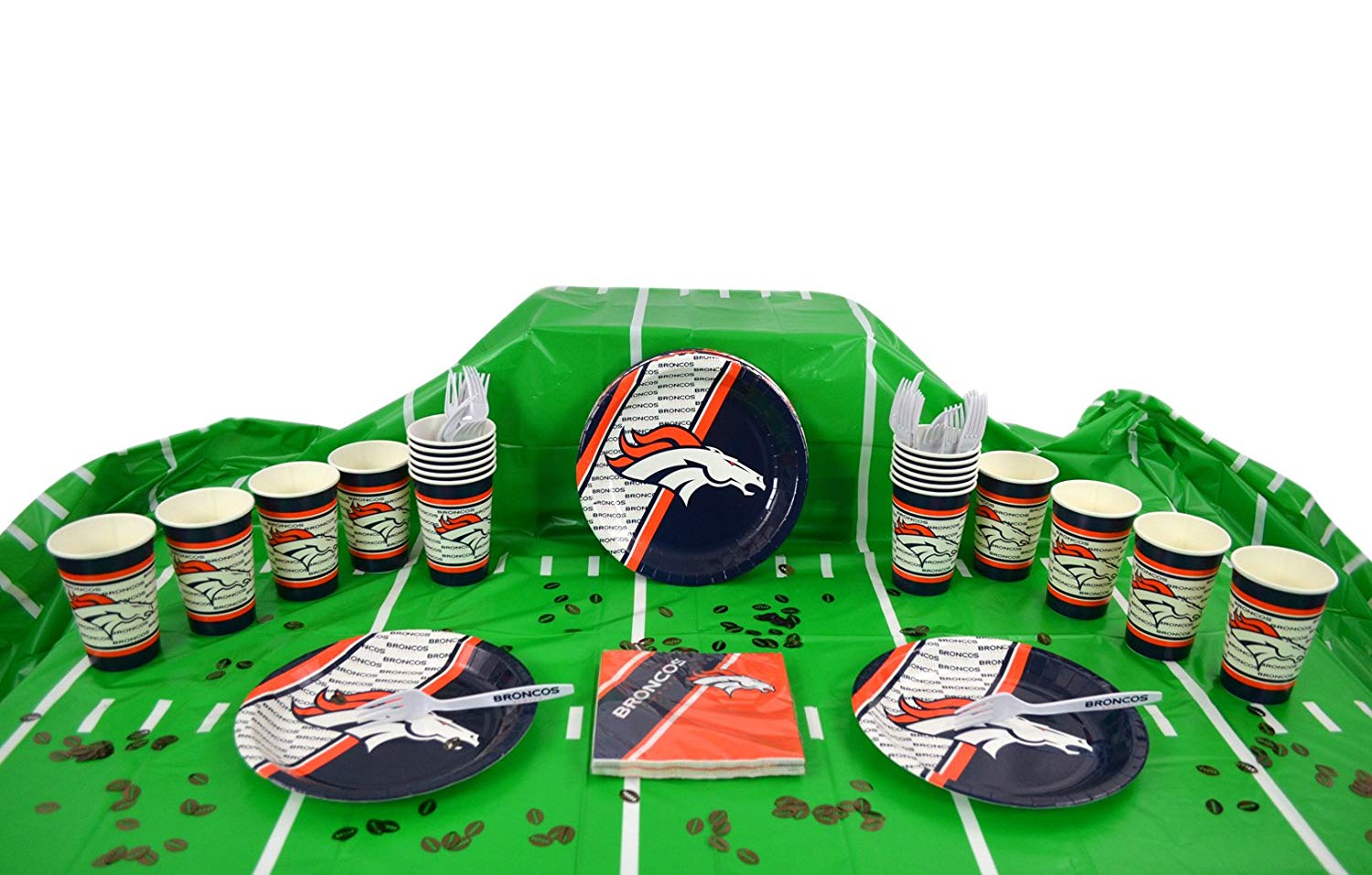 Table Setting and More Duck House Official National Football Fan Shop Authentic NFL Tailgate Party Kit Bundle for 20 Fans