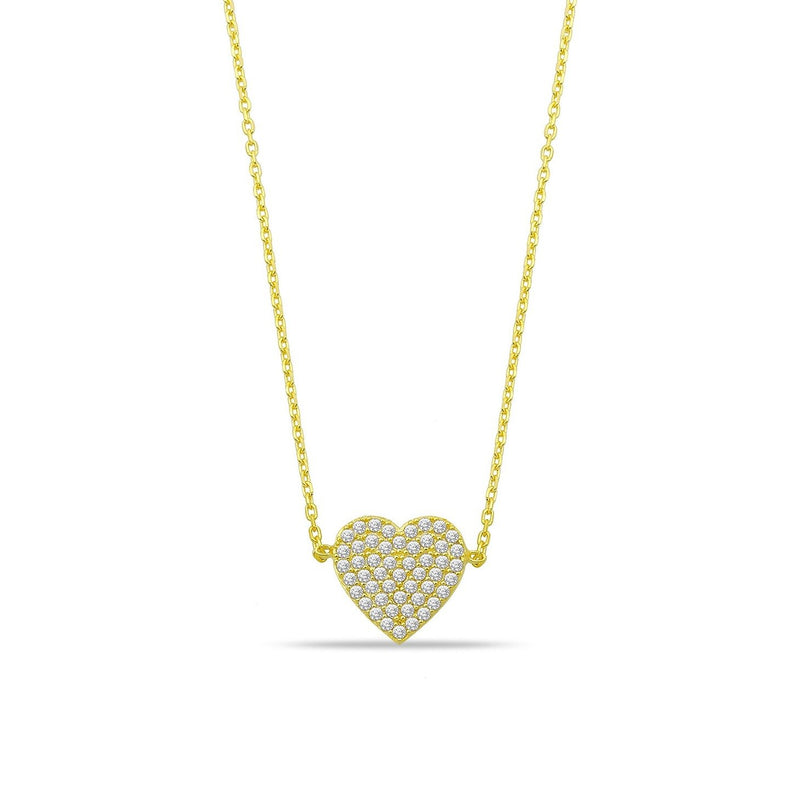 Gold and Crystals Heart Necklace JEWELRY The Sis Kiss