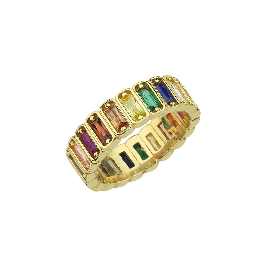 Multi Jewel Eternity Ring JEWELRY The Sis Kiss