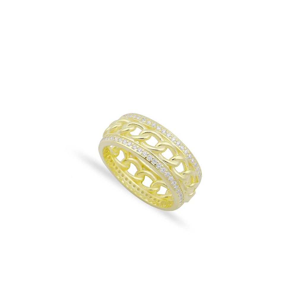Chain and Crystal Eternity Band JEWELRY The Sis Kiss