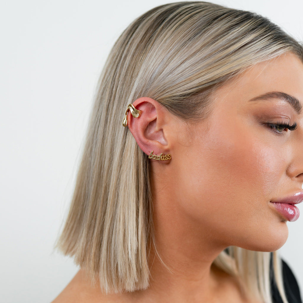 Gold Drip Ear Cuff JEWELRY The Sis Kiss