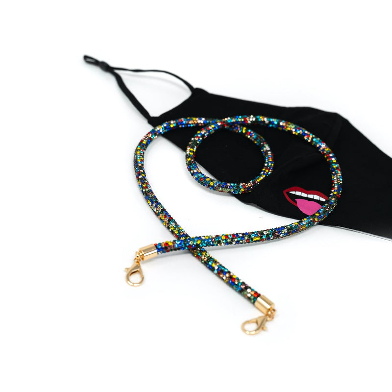 Save Your Mask - Sis Kiss Mask Chains ACCESSORY The Sis Kiss Rainbow Bling