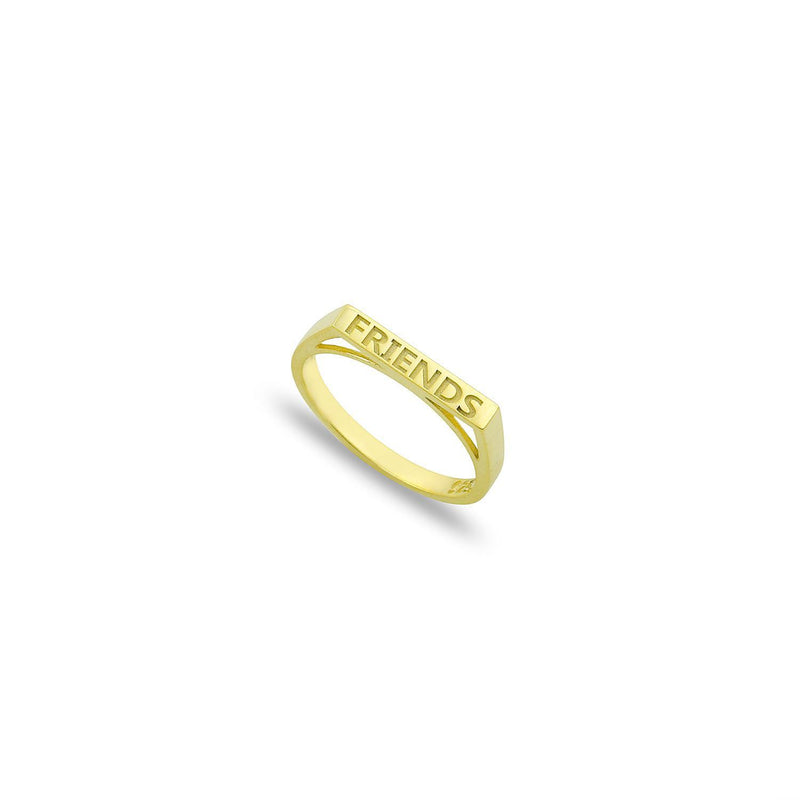 Custom Stackable Bar Ring JEWELRY The Sis Kiss Gold Size 6