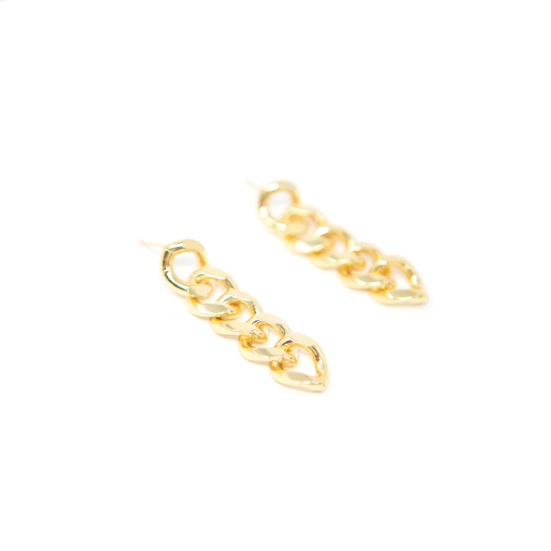 Cuban Chain Link Drop Earrings JEWELRY The Sis Kiss