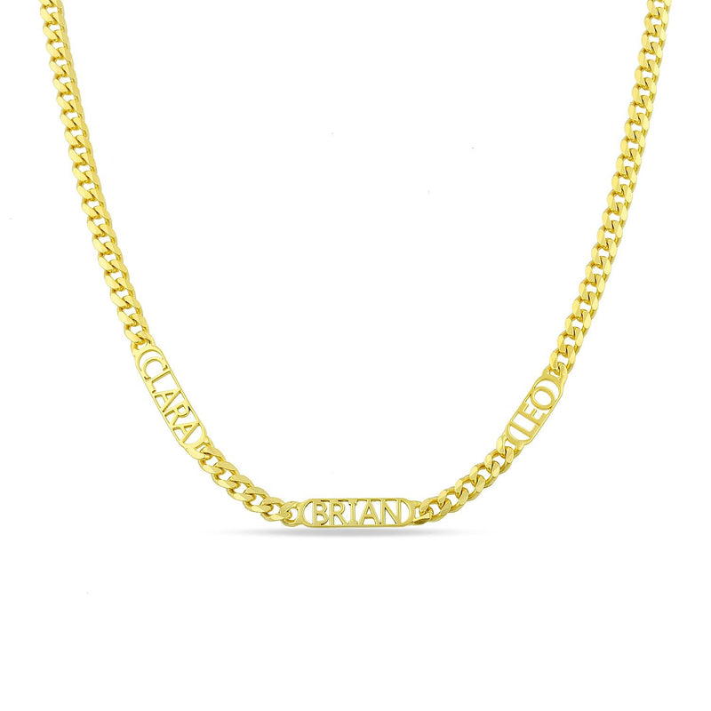Custom Chain Link Necklace necklace The Sis Kiss Gold Three Words/Names